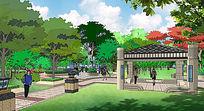 街区景观skp模型设计