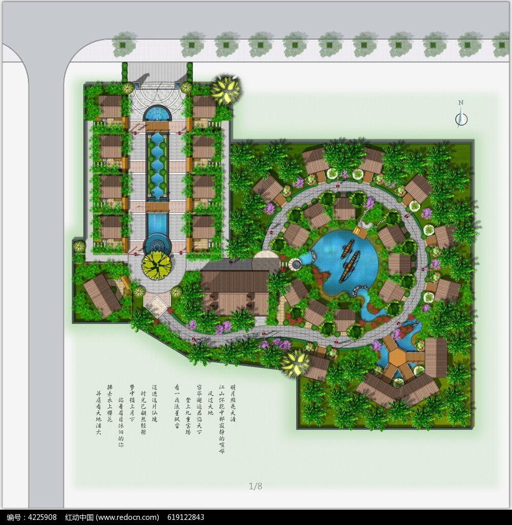 园林景观平面图设计图片