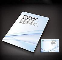 淡蓝色清新画册封面设计