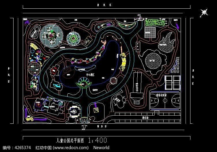 图片图纸接头CAD图纸规划水管_CAD公园儿童在号设计方案的府图纸上图片