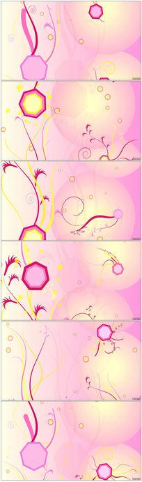 粉色花纹枝条生长蔓延小花视频素材