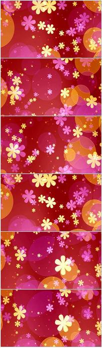 粉色旋转花瓣led视频背景