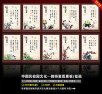 中国风教师素质展板