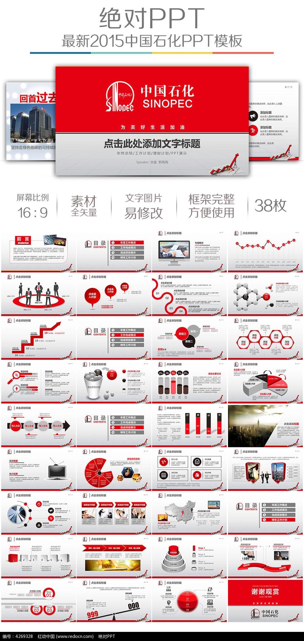 中国石化总结汇报ppt模板