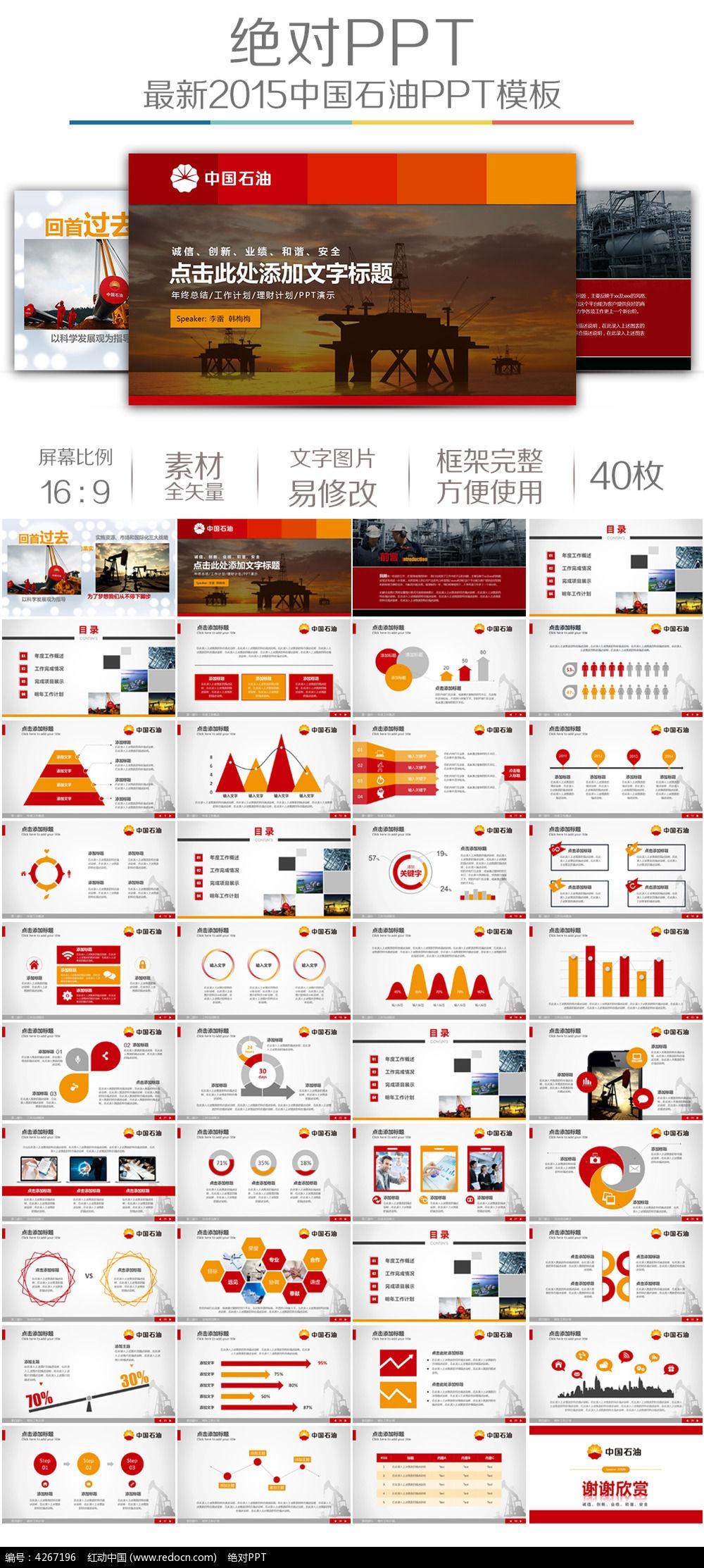 中国石油工作总结汇报ppt模板