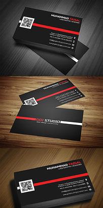企业黑色名片设计