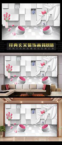 3D立体电视背景墙设计