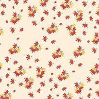 淡黄枫叶小碎花印花
