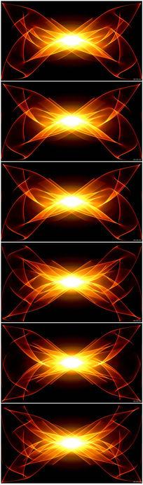 璀璨的金色粒子光束花纹庆祝节日视频素材