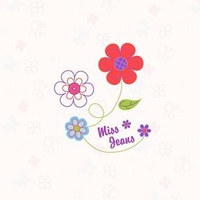 儿童淡雅小碎花印花图案