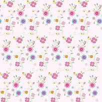 粉红淡雅小碎花印花图案