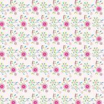 粉红淡雅小碎花印花图案 CDR
