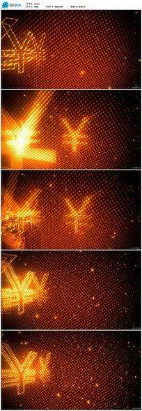 高清人民币符号led背景视频
