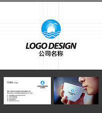 海鸥大海LOGO标志设计 AI