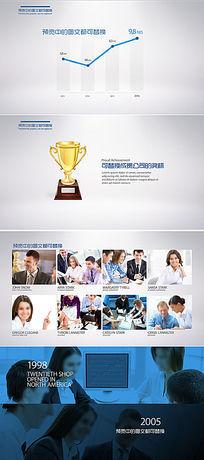 简洁企业商务宣传片视频AE模板