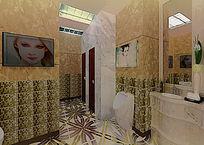 酒店公共厕所3d模型