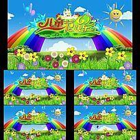 卡通幼儿园六一儿童节片头视频素材