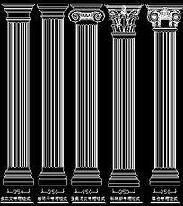 罗马柱造型CAD图纸