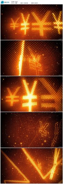 人民币符号动态视频背景素材