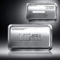 银色金属质感贵宾卡模板