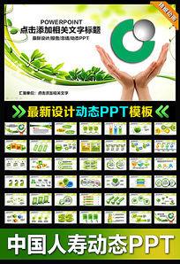 动态中国人寿保险公司PPT模板版