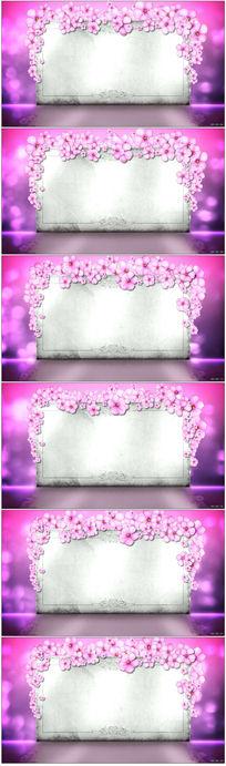 粉色花香花动态背景视频