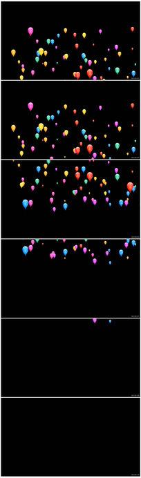 彩色气球转场特效动画视频素材