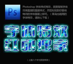 彩色水晶质感PS字样样式