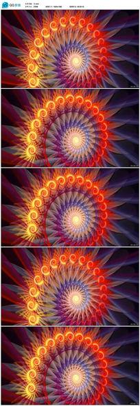 动感螺旋灯光光影特效背景视频
