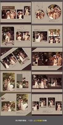 婚纱相册模板素材下载 PSD