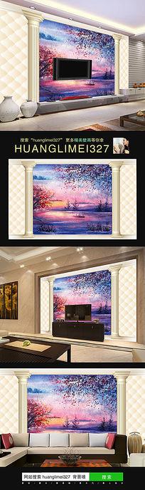 10款 时尚欧式瓷砖电视背景墙