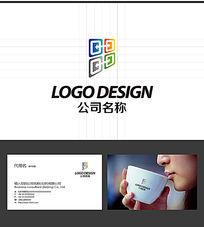 四方箭头印刷LOGO标志