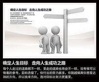 企业目标方向教育挂图设计