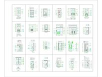 多种客厅隔断CAD图纸大全