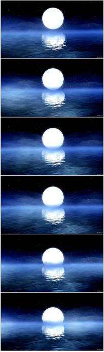 海上日出日落高清LED大屏幕背景视频素材