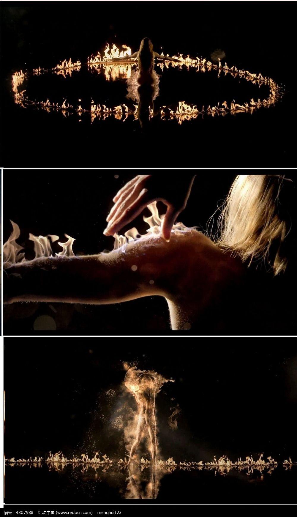 成人艺术片_梦幻艺术人体火焰舞蹈视频