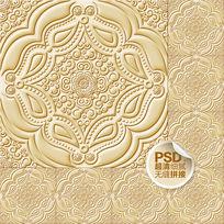 欧式立体花纹天花板设计