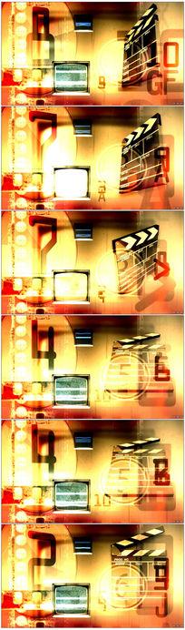 强烈视觉冲击怀旧老电影LED视频素材