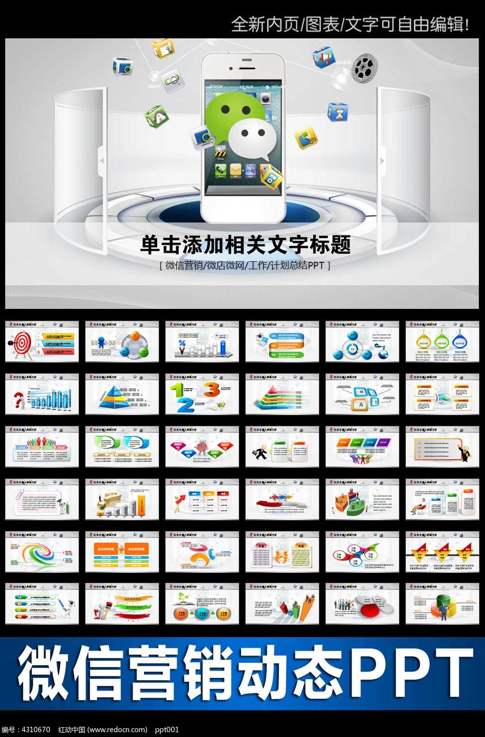 企业微信营销ppt模板