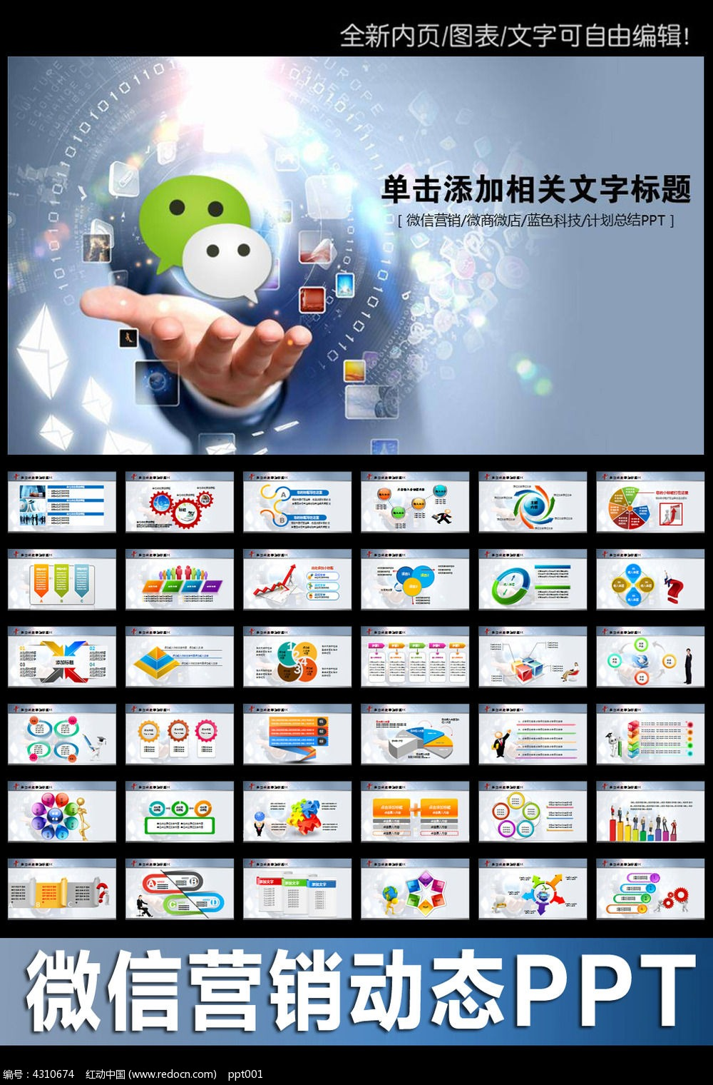微信营销介绍ppt模板