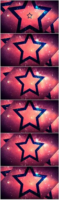 紫色五角星变幻闪烁闪光视频素材vj背景