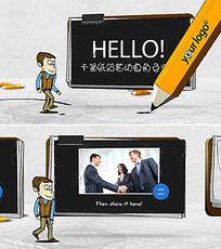 铅笔画人物卡通动画AE模板