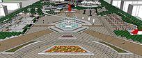 上海某高档商业广场设计skp模型