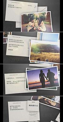 温馨回忆旅行相册视频AE模板