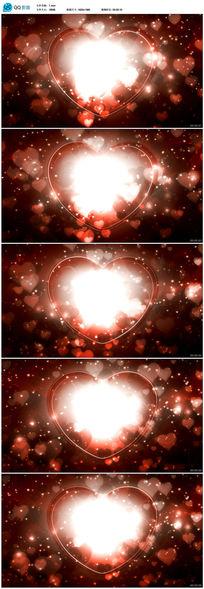 心形粒子视频背景素材