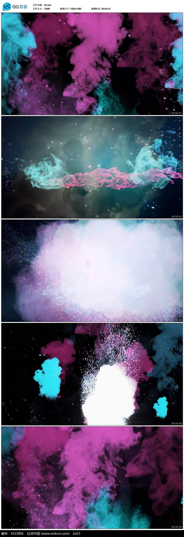 彩色烟雾爆炸视频素材