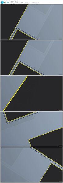 黑色立体三维空间背景视频素材