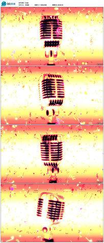 金色麦克风舞台背景视频