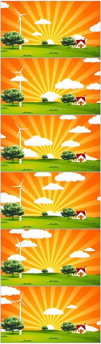 卡通儿童动画视频背景素材