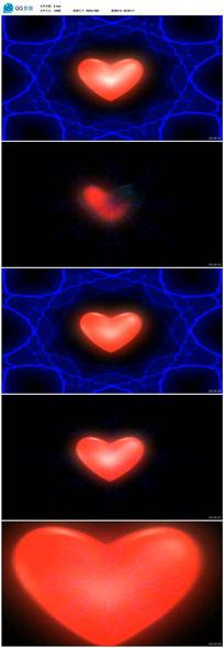 红色爱心闪电动态视频